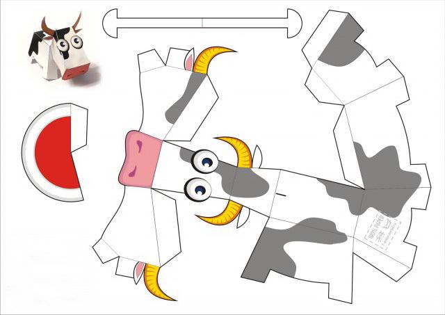 Поделки из бумаги распечатать и склеить 486
