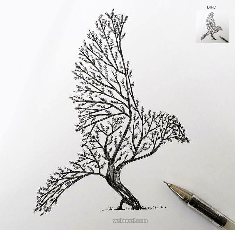 Картинки для срисовки для начинающих ручкой