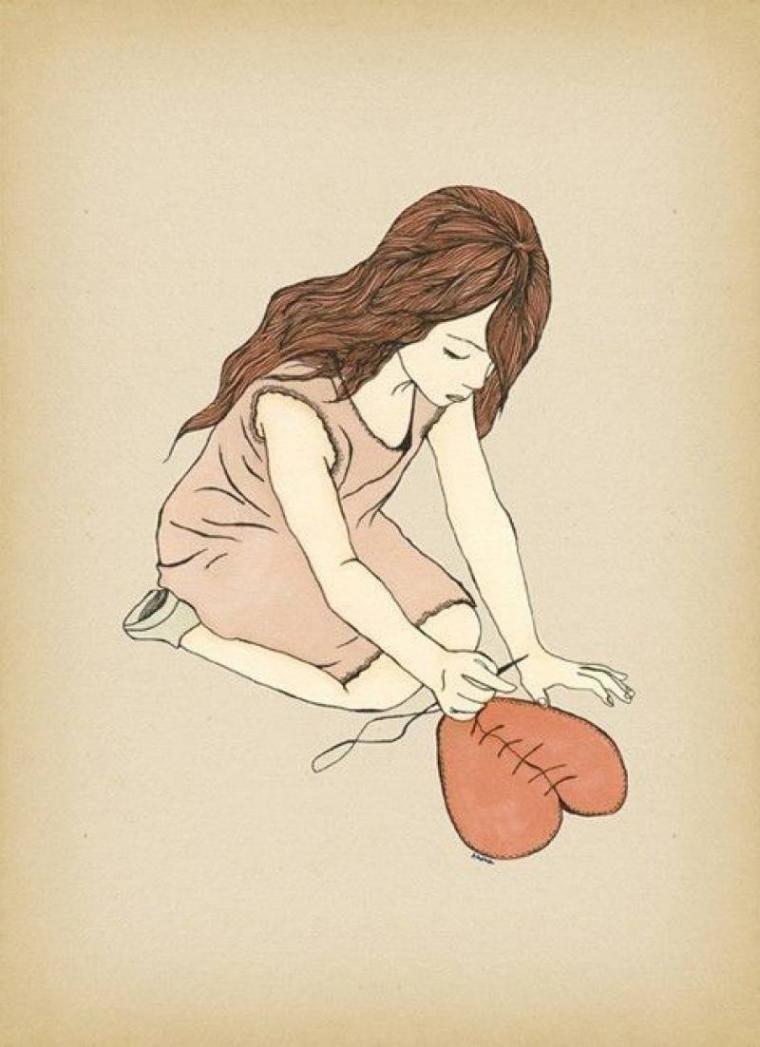 Рисунки с грустными девушками