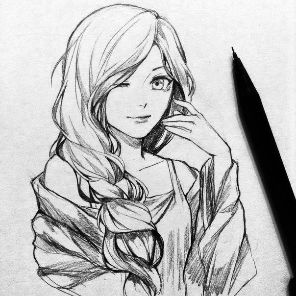 рисунки аниме картинки