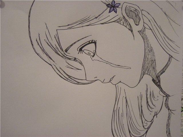рисунки фото карандашом аниме