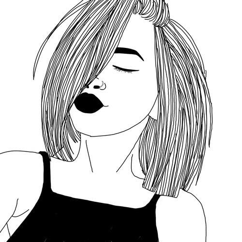 Рисунки девушек в стиле тумблер легкие