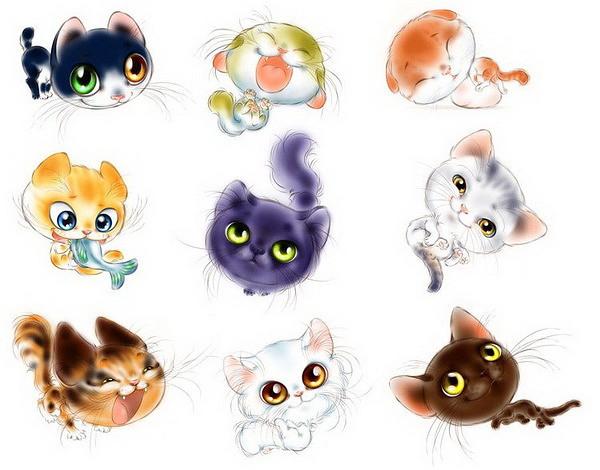 - Dessins de chats rigolos ...