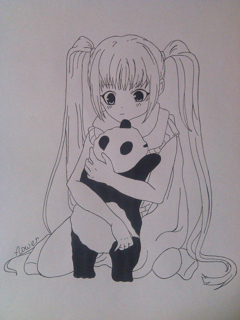 Картинки для аниме для срисовки карандашом для начинающих поэтапно 12