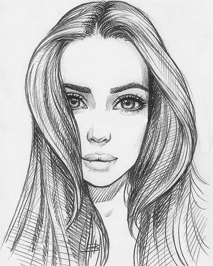 девушки рисунки картинки