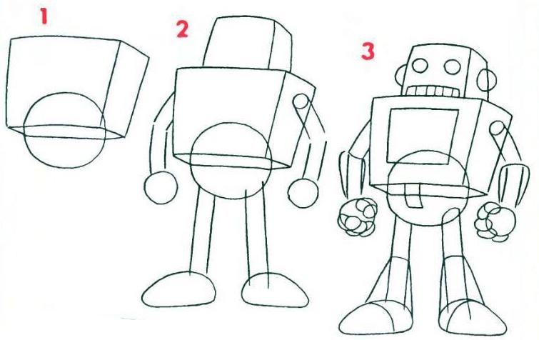 картинки роботов для срисовки
