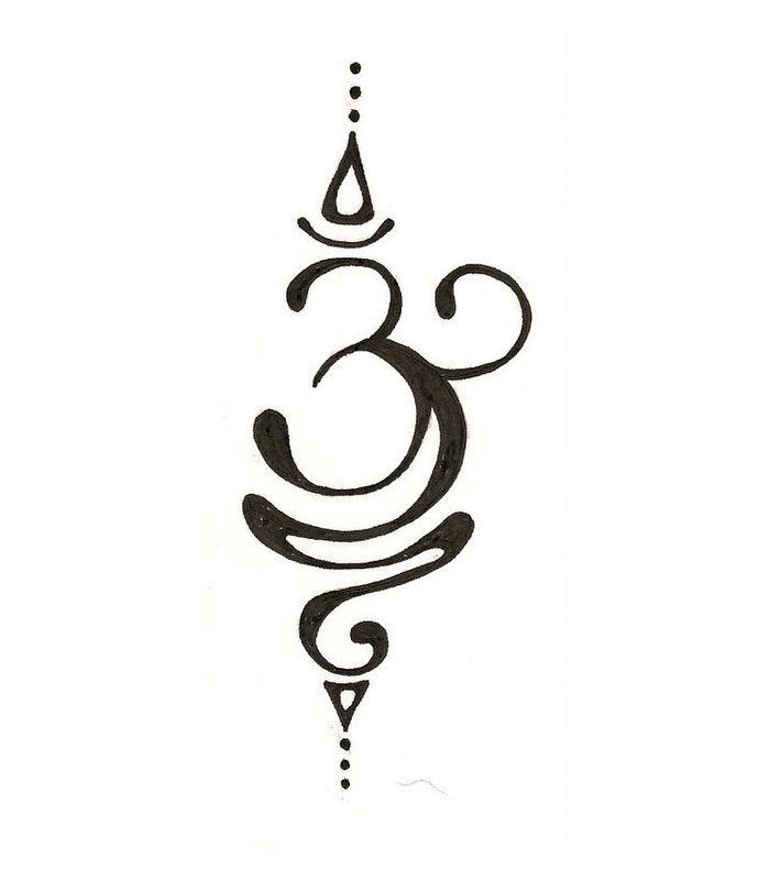 Lotus Flower Om Symbol Tattoo Flowers Healthy