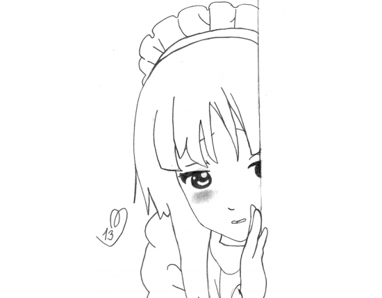 легкие аниме картинки для срисовки