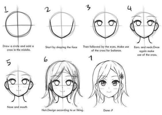 аниме картинки рисунки карандашом для начинающих