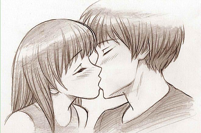 картинки для срисовки аниме любовь