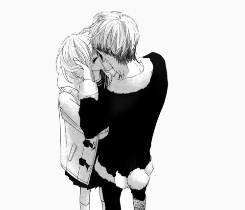 красивые картинки аниме чёрно белые