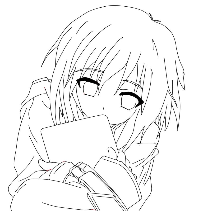 Line Art Guide : Рисунки для срисовки начинающих аниме