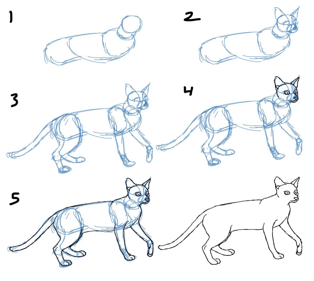 Трафареты кошек и котов для декора своими руками - Усатики 4