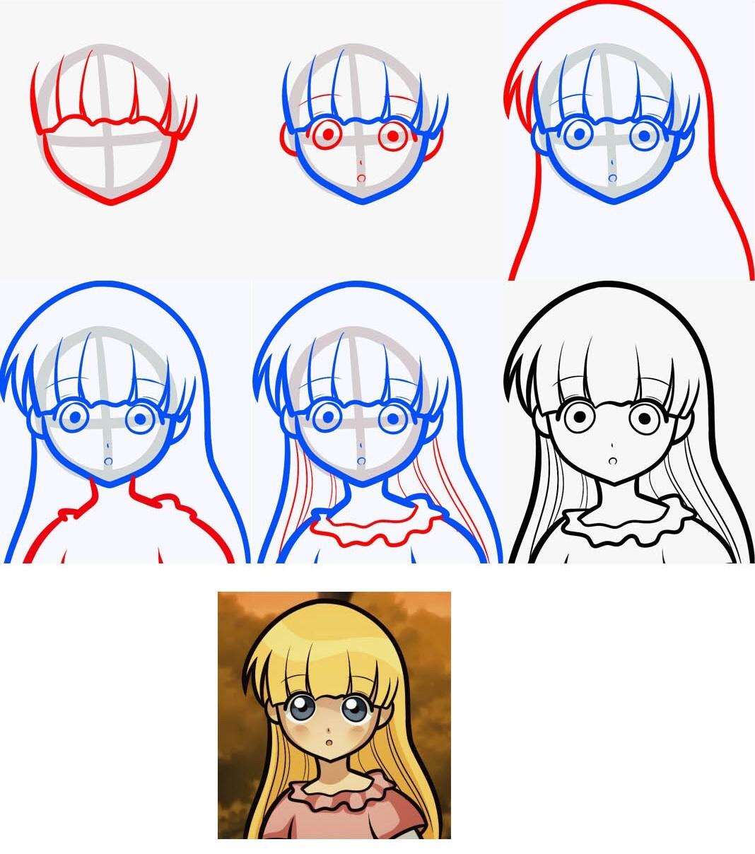 Рисуем девушек аниме демонова