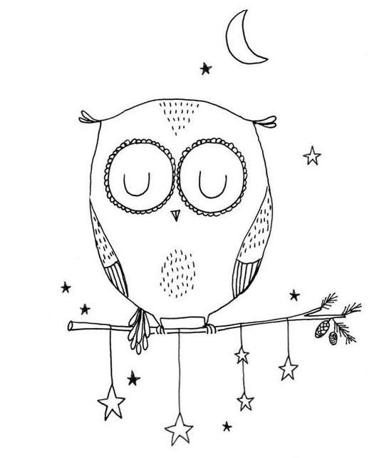 Милые рисунок карандашом сова рисунки