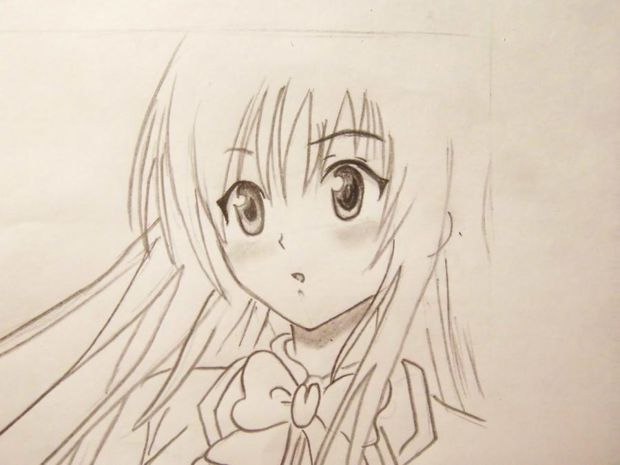 Картинки девушек простым карандашом для срисовки 4