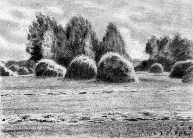 Картинки пейзаж акварелью для начинающих